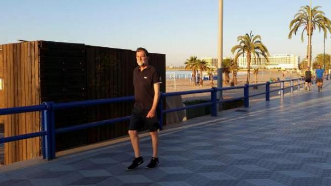 Rajoy, haciendo deporte en Alicante.