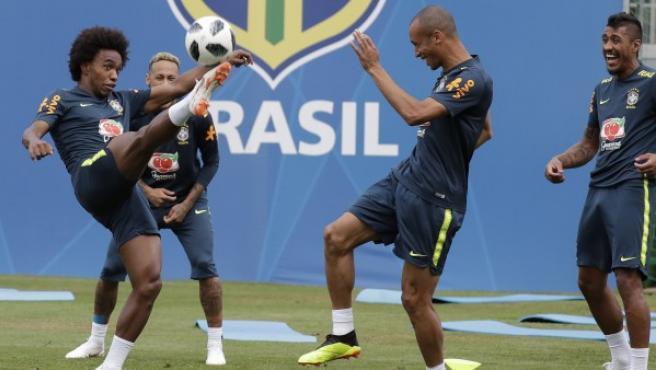 Entrenamiento de Brasil.