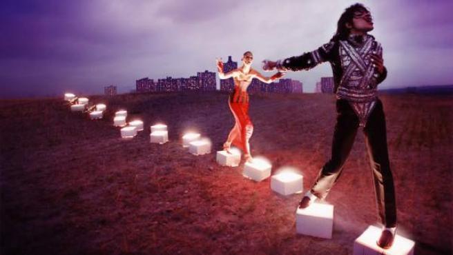 'An illuminating path', de David LaChapelle, parte de la exposición de la National Portait Gallery.