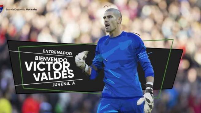 Anuncio del fichaje de Víctor Valdés de la Escuela Deportiva de Moratalaz.