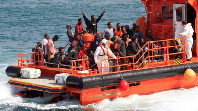 Rescate de inmigrantes este 23 de junio en aguas del Estrecho y el Mar de Alborán.