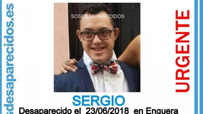 Imagen que se difundió del joven con síndrome de Down que desapareció en Enguera.