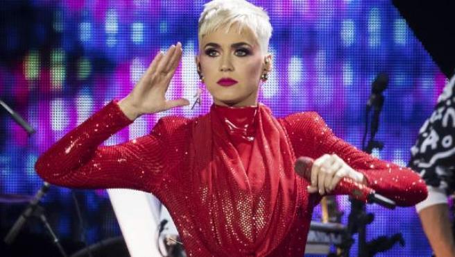 La cantante Katy Perry, en un concierto en Londres.