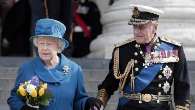 La reina Isabel II y su marido Felipe de Edimburgo, casados desde 1947.