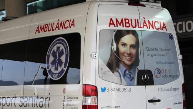 Ambulancia, del Servicio de Atención Médica Urgente (SAMU) similar a la que atendió al joven.
