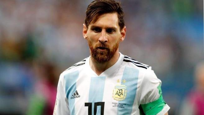 Leo Messi, con la camiseta de la selección argentina en Rusia 2018.
