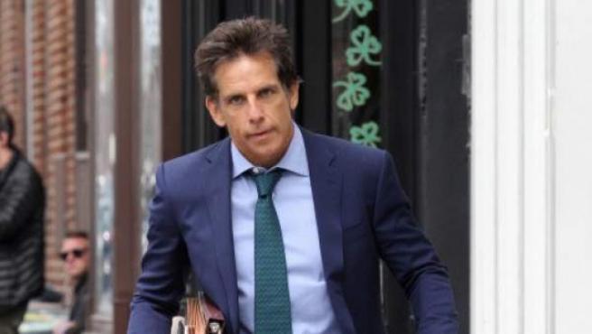 Ben Stiller durante el rodaje de una película en Nueva York.