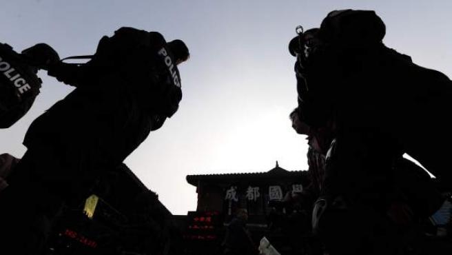 Agentes de la Policía china.