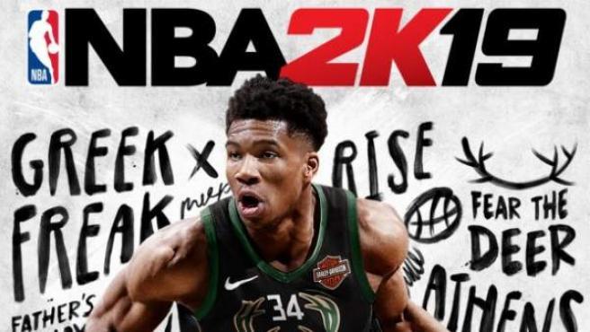 Portada de 'NBA 2K19', con Giannis Antetokounmpo.