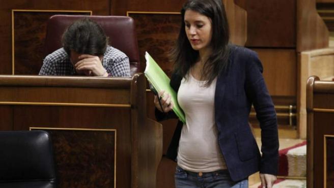 Irene Montero, en el Congreso.