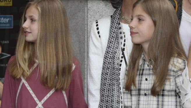 La princesa Leonor y la infanta Sofía, en una imagen del pasado mes de mayo.