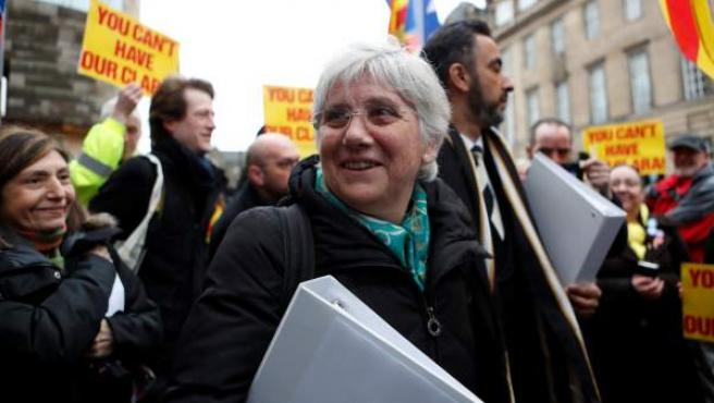 La exconsellera de Educación de la Generalitat de Cataluña Clara Ponsatí, en abril de 2018.