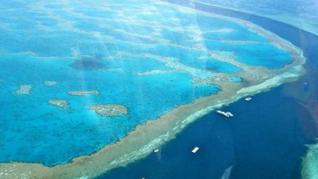 Imagen aérea de la Gran Barrera de Coral de Australia.