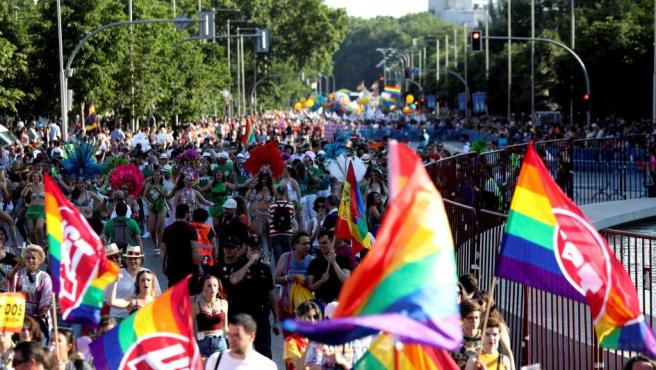 Miles de personas han secundado la manifestación del Orgullo Gay 2018 en Madrid, que ha partido de Atocha hasta Colón.
