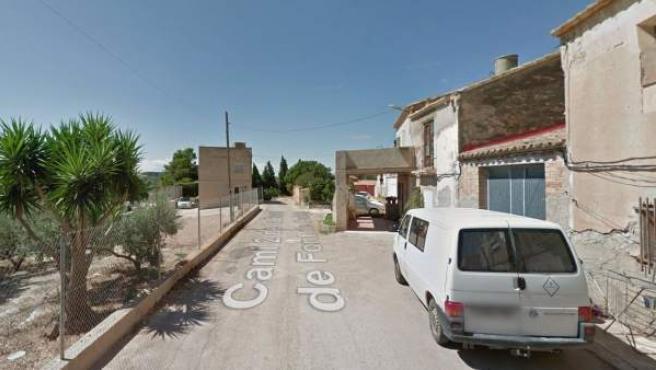 Camino de la Font de Quinto, en Campredó; donde ha tenido lugar el suceso.