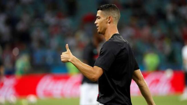 Cristiano Ronaldo en un partido del Mundial