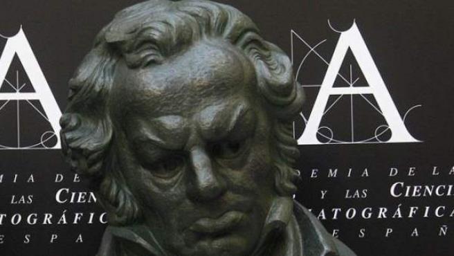 Trofeo que se da a los ganadores de los Premios Goya.