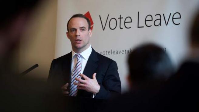 Foto de archivo del parlamentario conservador británico Dominic Raab.