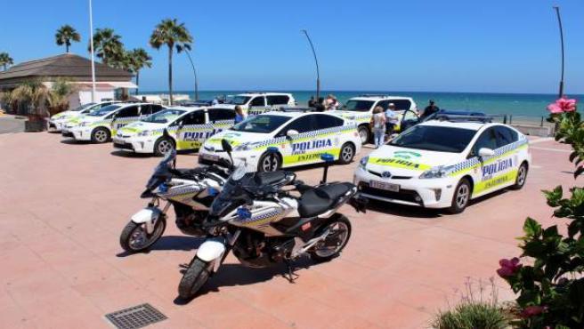 Policia local de estepona coches motos patrulla