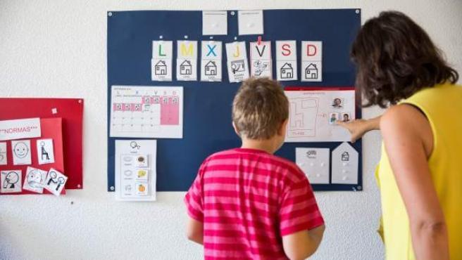 Pictogramas en un aula de un colegio de Educación Especial.