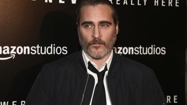 El actor Joaquin Phoenix posa en el 'photocall'.