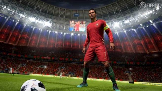 Cristiano Ronaldo en el juego 'FIFA 18'.