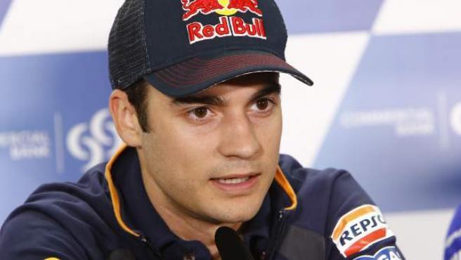 Dani Pedrosa en rueda de prensa durante el Gran Premio de Catar.