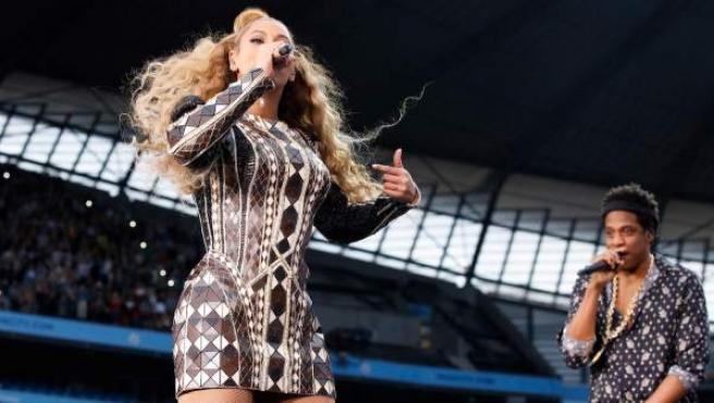 Beyoncé y Jay-Z, en un concierto de la gira 'OTR II'.