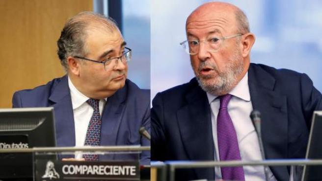 Ángel Ron y Emilio Saracho, en la comisión del Congreso.