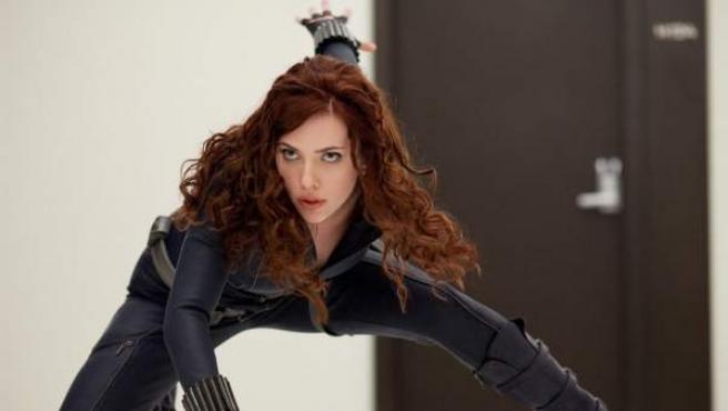 La actriz Scarlett Johansson en 'Iron Man 2'.