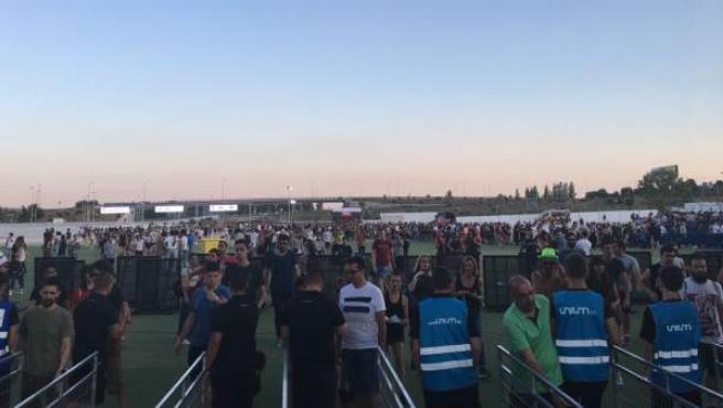 Accesos al recinto de Ifema-Valdebebas durante el Mad Cool 2018.