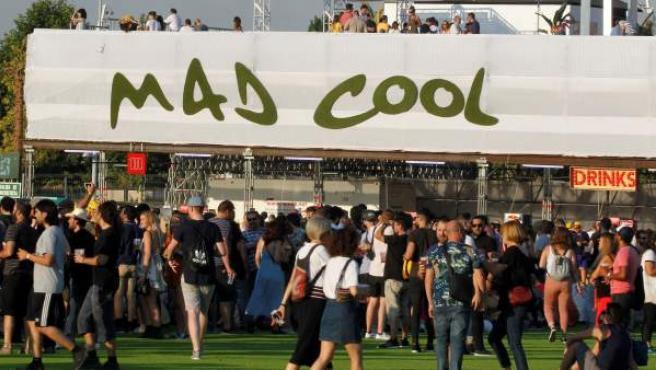 Aspecto del recinto instalado en el barrio madrileño de Valdebebas, donde se celebra la tercera edición del festival de música Mad Cool.