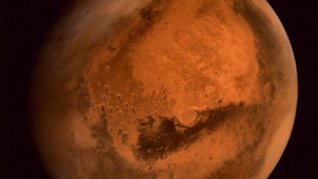 Imagen del planeta rojo, Marte.