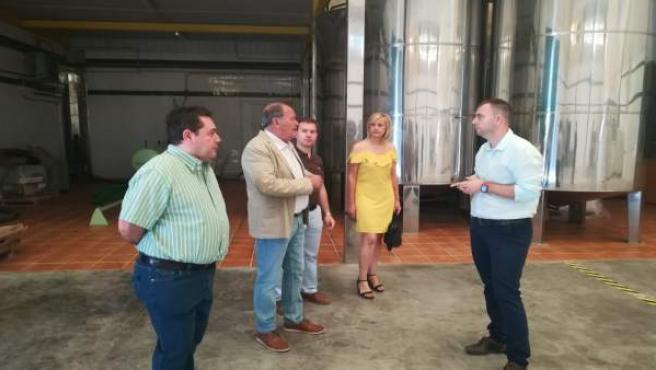 Visita de la Junta a la cooperativa agrícola San Isidro de Deifontes