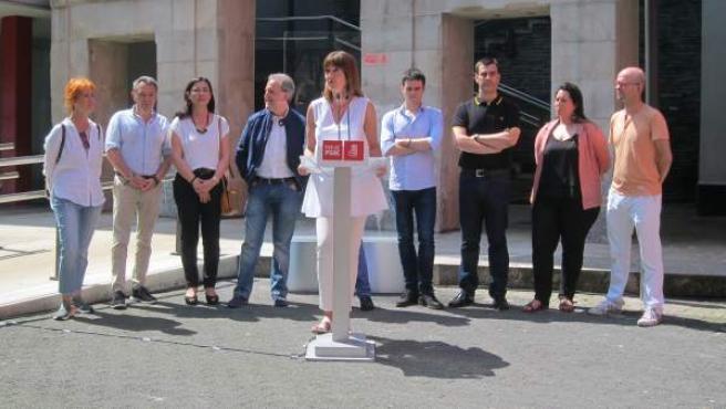Idoia Mendia, este sábado en Bilbao