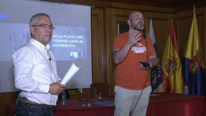 Un momento de la conferencia de 'Canarias 1.500 km de costa'