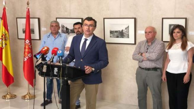 Ballesta en la rueda de prensa que anuncia acuerdo con Ciudadanos