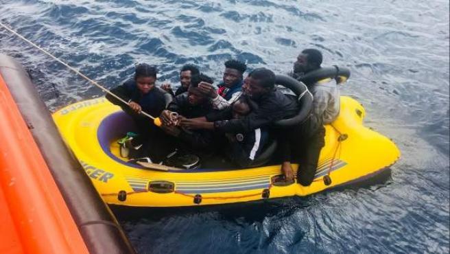 Personas rescatadas por Salvamento Marítimo