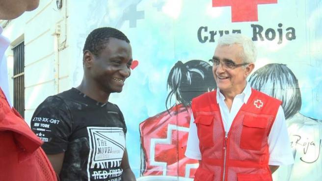Felix Sesay, uno de los inmigrantes rescatados por el buque Aquarius.