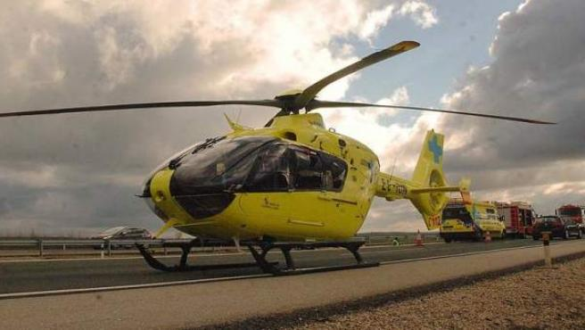 Helicóptero medicalizado.