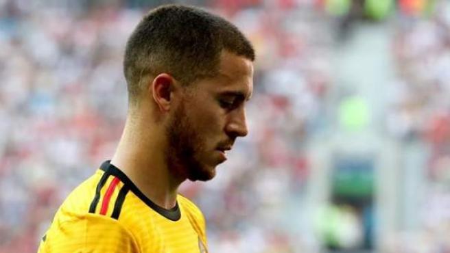 Eden Hazard, en el partido entre Bélgica e Inglaterra por el tercer puesto de Rusia 2018.