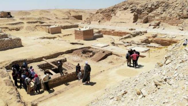 Pozo de treinta metros excavado en el centro de un antiguo taller de momificación que ha sido descubierto al sur de la pirámide de Unas, en el sur de la necrópolis de Sakara.
