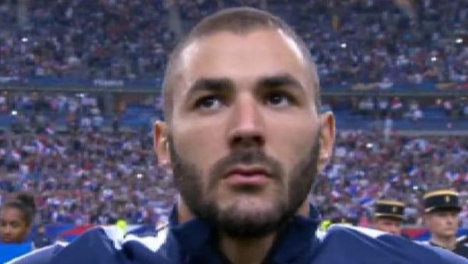 Karim Benzema con la selección francesa en foto de archivo.