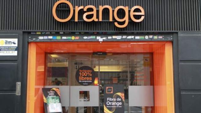 Imagen de una tienda de Orange.