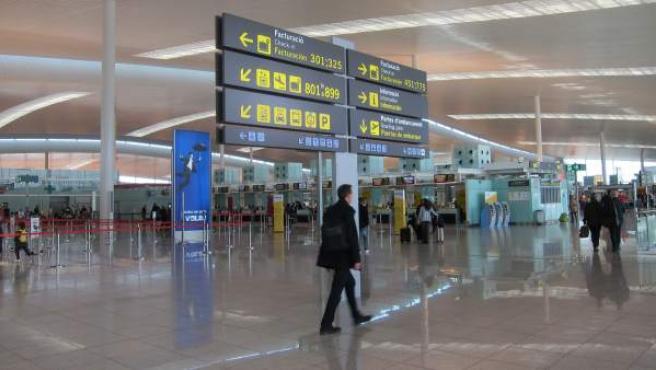 El hall del aeropuerto de El Prat de la Terminal 1.