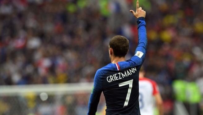 Griezmann, en acción en la final del Mundial.