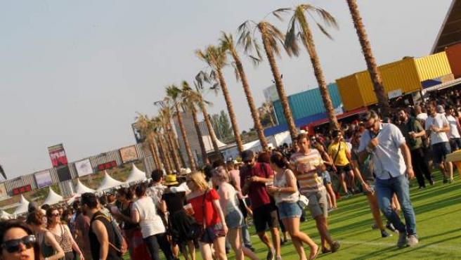 Aspecto del recinto instalado en el barrio madrileño de Valdebebas, donde se celebra del festival de música Mad Cool.
