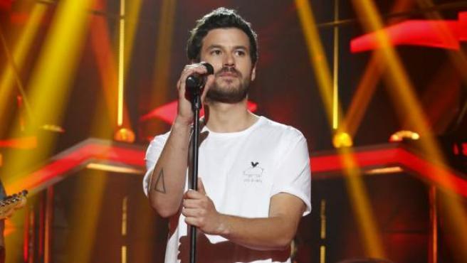 El cantante Guillermo Bárcenas, hijo de Luis Bárcenas, durante una actuación en Operación Triunfo.