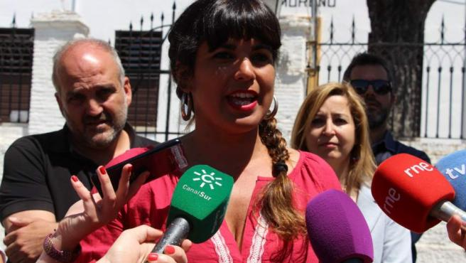 La coordinadora de Podemos Andalucía, Teresa Rodríguez, en Granada.