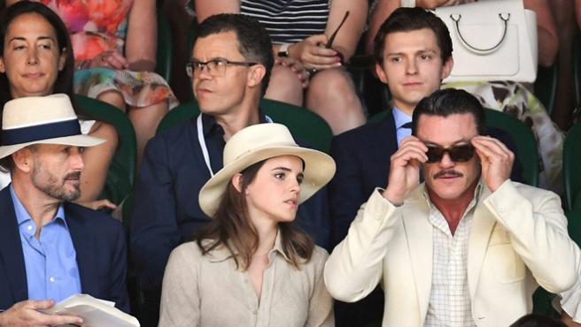 Bella y Gastón se encuentran con Spider-Man en las gradas de Wimbledon